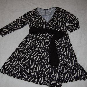 Igigi Neve Wrap Dress in Sumi-e print EUC